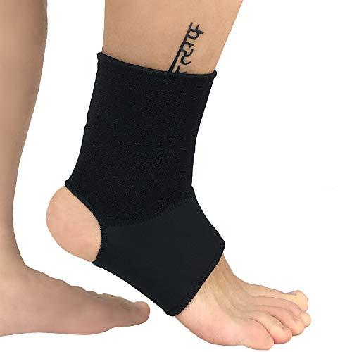 AYEMOY Medizinische Fußbandage Sprunggelenk von Fußgelenkbandage Gelenkbandage Knöchelbandage Sprunggelenkbandage für Links & rechts - stützt Fuß Fußgelenk Knöchel bei Sport, Schmerzen