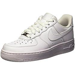 Nike Air Force 1 '07 Zapatillas, Mujer, Blanco (White/White), 38.5 EU (5 UK)