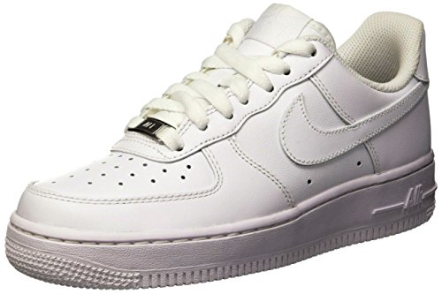 Nike Air Force 1 ´07, Women's Low-Top Sneakers, Weiß (White/White), 4.5 UK