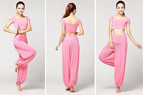 Vêtements d'entraînement de yoga pour femme / costume de danse Pink
