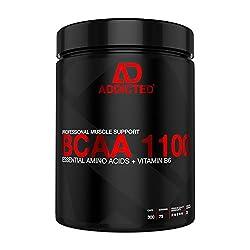 BCAA 1100 von ADDICTED® 300 Kapseln • Essentielle Aminosäuren & Vitamin B6 für Muskelaufbau und Muskelerhalt • Aminos 2:1:1 für Kraftsport | Bodybuilding | Fitness | Diät