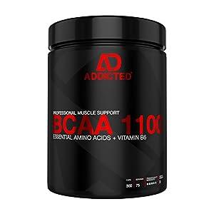 BCAA 1100 von ADDICTED® 300 Kapseln • Essentielle Aminosäuren & Vitamin B6...