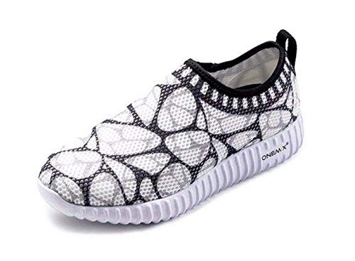 ONEMIX Damen Laufschuhe Leichte Atmungsaktiv Sportschuhe Freizeitschuhe Sneaker - Schwarz 37