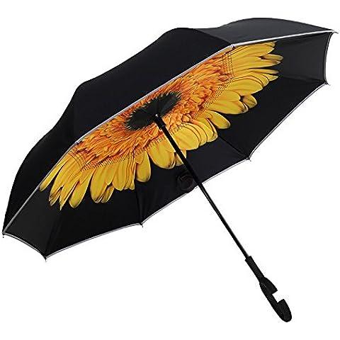 Eklead  EK-198-Sun Flower, Ombrello pieghevoli  Donna Bambini Unisex