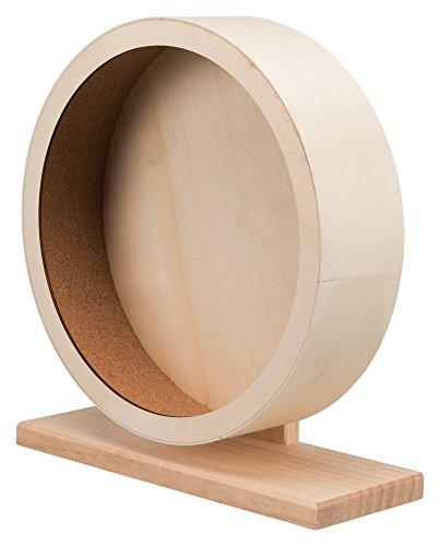 Das Heimtier Center Emcke Laufrad aus Holz Maße: ø 33 cm für z. B.: Hamster, Degus, Ratten Extra groß