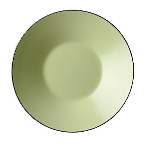 Assiette creuse occidentale/assiette creuse en céramique/assiette à salade fraîche/assiette de fruits/assiette creuse/bol peu profond/assiette à seau/grand disque de 12 pouces