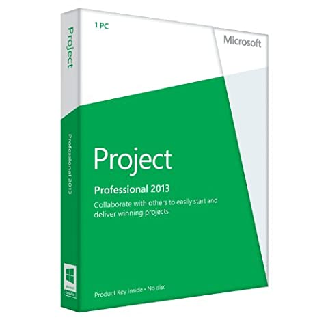 Microsoft Project Professional 2013 - 1PC (Product Key Card ohne Datenträger) - englisch (Project Microsoft Office)