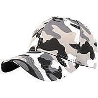 ❤️Amlaiworld Gorra deportiva táctica al aire libre del camuflaje Hombre mujer Sombrero de gorra de béisbol Niños niñas Viseras (Negro)