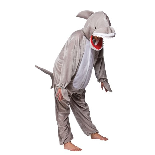 Hai mit offenen Mund Tier Kostüm Halloween Kostüm Outfit - L - 134 / 146cm