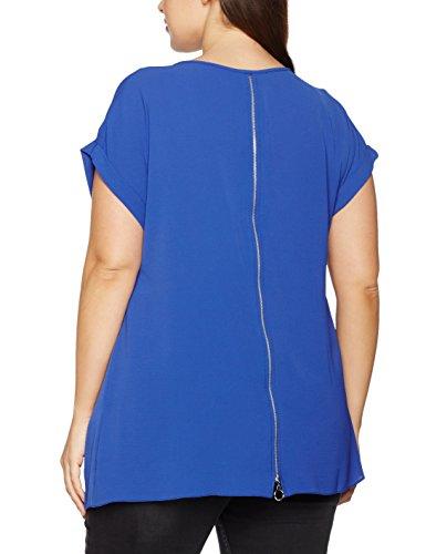 Dorothy Perkins Curve Zip Back, T-Shirt Femme Bleu (cobalt)