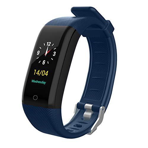 HHRONG Fitness-Tracker, Bluetooth, wasserdicht, mit Herzfrequenz, multifunktionales Farbdisplay, Smart-Armband für Männer und Frauen, kompatibel mit Android- und iOS-Handys