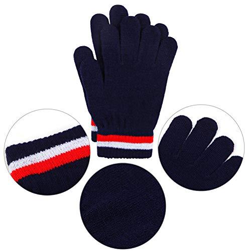 lavorati a maglia U/&X 6 paia di guanti invernali magici per bambini unisex