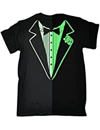 123t Men's - GLOW IN THE DARK TUXEDO - Loose Fit T-shirt