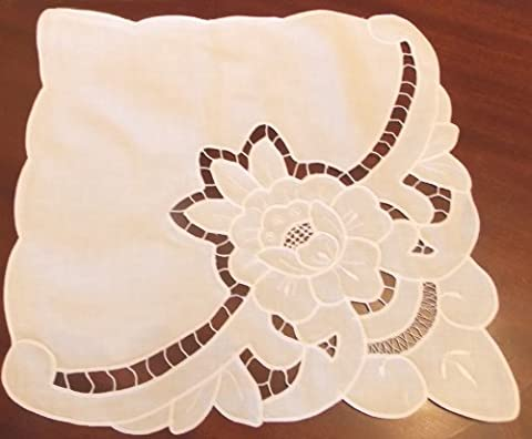 2 Table Napkins Place Mats Cotton Handmade Embroidered/Chair Doley/Xmas Stockings