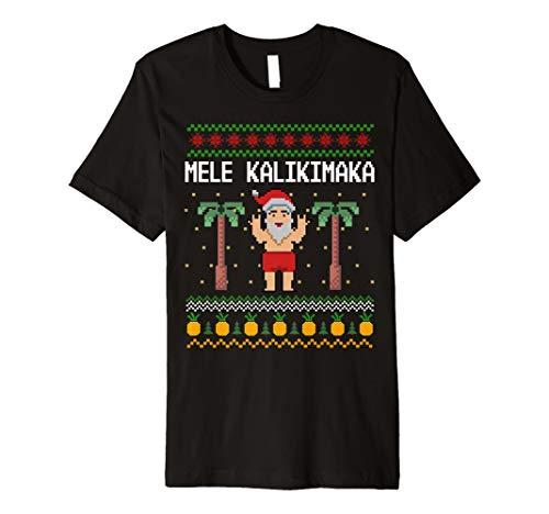 Hawaiian Santa Mele Kalikimaka Shirt Ugly Weihnachten Tee Geschenk