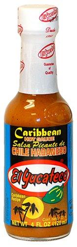 El Yucateco Salsa Picante De Caribbean Chile Habanero Hot Sauce 120ml
