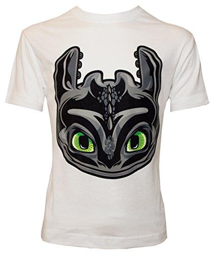 Camiseta para Niño con Diseño de DreamWorks Cómo Entrenar a tu Dragón, Cabeza de Desdentado, Blanco - 128/134