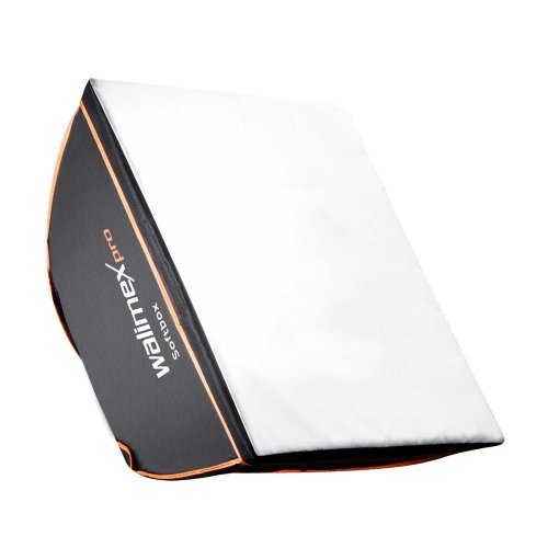 Walimex Pro Softbox Orange Line 40x40 cm (inkl. Universal-Adapter) Broncolor Adapter