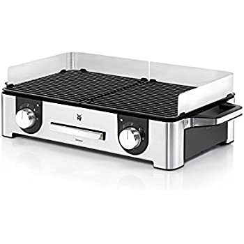 WMF Lono Master-Grill, Elektrogrill, 2400 W, 2 getrennt regulierbare Grillflächen, Tischgrill mit Outdoor-Zertifizierung für Barbecue, cromargan
