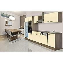 respekta Küchenleerblock Küche Leerblock Küchenzeile 340 cm Eiche York Vanille