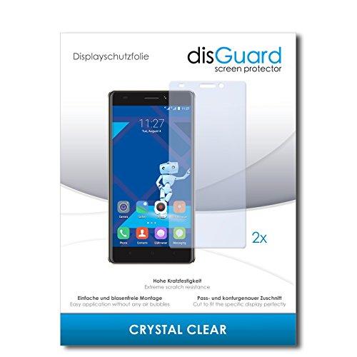 disGuard® Bildschirmschutzfolie [Crystal Clear] kompatibel mit Haier Phone L53 [2 Stück] Kristallklar, Transparent, Unsichtbar, Extrem Kratzfest, Anti-Fingerabdruck - Panzerglas Folie, Schutzfolie