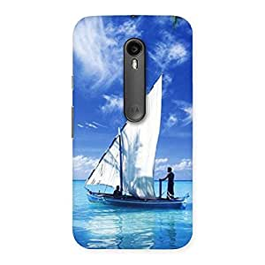 Enticing Boat Guy Back Case Cover for Moto G3