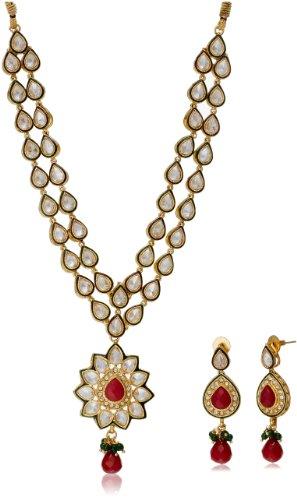 Bentex Kundan Necklace With Uncut Diamond Look For Women nkk0016 image - Kerala Online Shopping