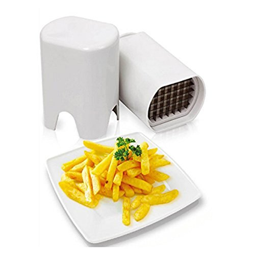 Dealglad® nuovo 2in 1Forbice francese Fry patate pelapatate zesters frutta,