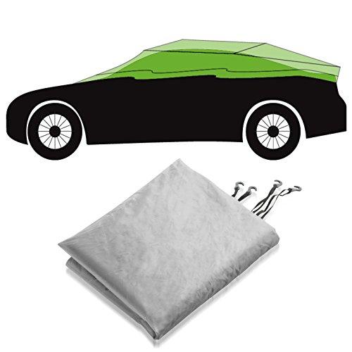 Preisvergleich Produktbild Autoabdeckung Halbgarage für Winter & Sommer | silber | passende Größe wählbar (Größe XL: 315x122x61cm)