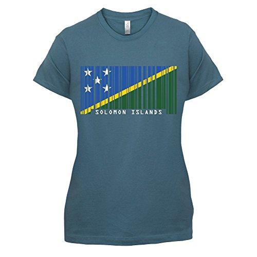 Solomon Islands / Salomonen Barcode Flagge - Damen T-Shirt - 14 Farben Indigoblau