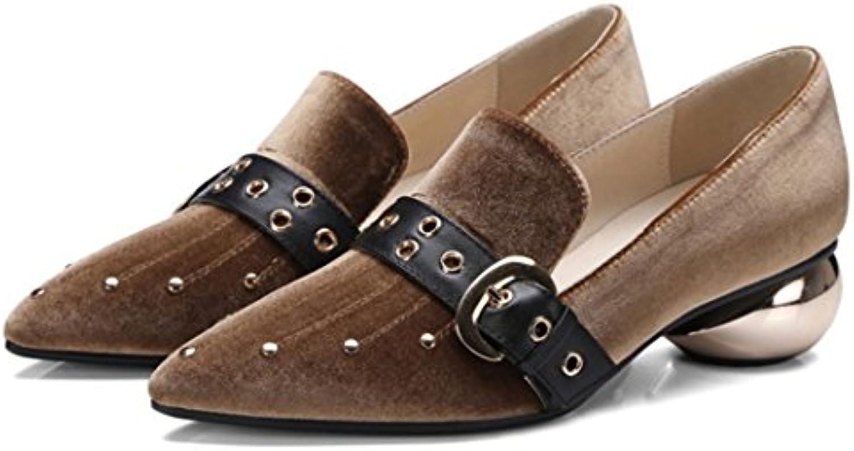 GAOLIXIA Damenschuhe Spitz Schnalle High Heels Pumps Pumps Britischen Mode Freizeitschuhe Neuheit mit Einzelnenö