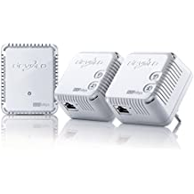 Devolo dLAN 500 WiFi ES - Kit de adaptador de comunicación por línea eléctrica PLC (500 Mbps, 3 adaptadores, 1 puerto LAN, repetidor WiFi, amplificador de señal WiFi, WiFi Move), blanco