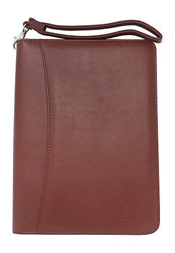 Lautus Designs Kleine Mappe aus PU-Leder mit Notizblock und Fach für 8 Zoll (20 cm) große Tablets  braun