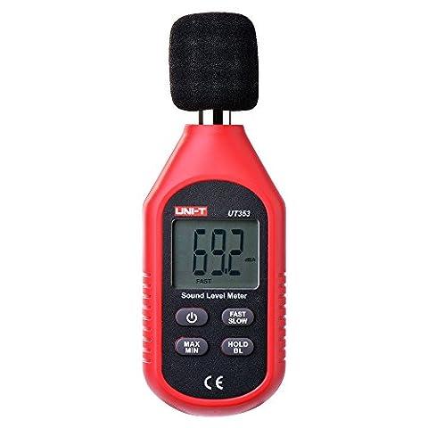XCSOURCE Lecteur Bruyant Numérique Portatif 30-130dB Surveillance Contrôleur de Mètre de Décibel Sonore de Niveau de Pression BI526