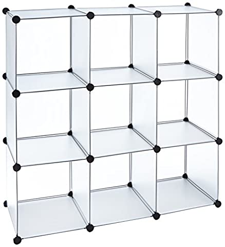 ts-ideen - Plug in shelf stacking rack shelves chest cabinet closer cupboard transparent white