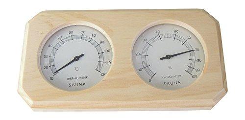 Sauna Thermo und Hygrometer aus Holz