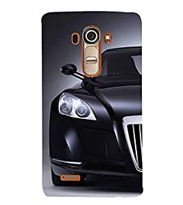 FUSON Superb Black Sports Car 3D Hard Polycarbonate Designer Back Case Cover for LG G4 :: LG G4 Dual LTE :: LG G4 H818P H818N :: LG G4 H815 H815TR H815T H815P H812 H810 H811 LS991 VS986 US991