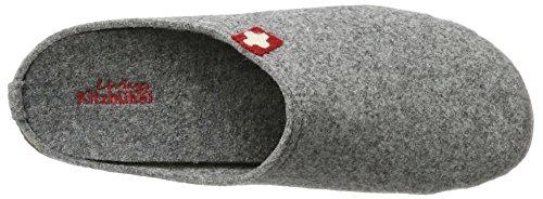 Ciabattina Kitzbühel Vivente Croce Svizzera Con Plantare, Pantofole Da Uomo Grigie (grigio 610)