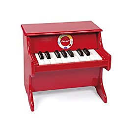 Janod – J07622 – Confetti Red Piano