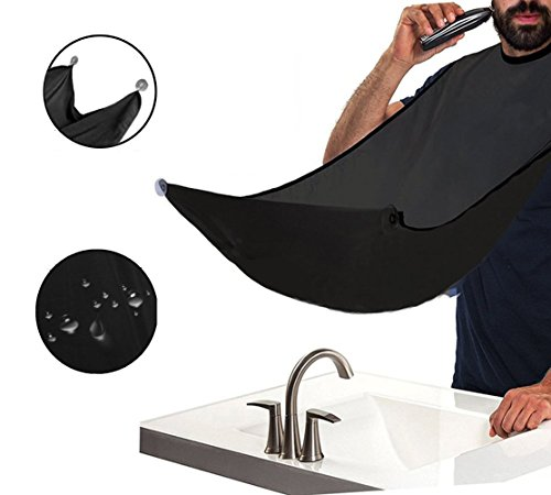 Beard Apron Cape,Richoose Beard Cape Shaving Mirror Suction Cups Let Your Bathroom Keep Clean, do not Bother to Clean Beard Trimmings, Hairs and Whiskers (Non-stick-mantel)