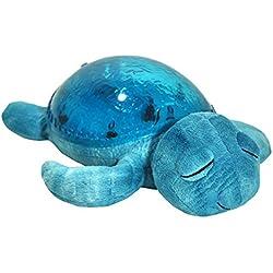 Cloud B 8723540082368Veilleuse Tortue, avec lumière et son, Bleu