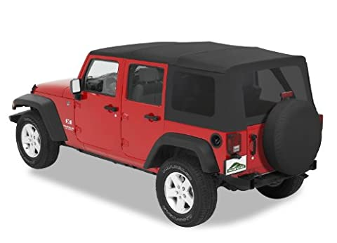 Pavement Ends by Bestop 51201-35 Black Diamond Replay Replacement Soft Top Tinted Windows-No door skins included-No frame hardware included- 2007-2009 Jeep Wrangler Unlimited by Pavement Ends