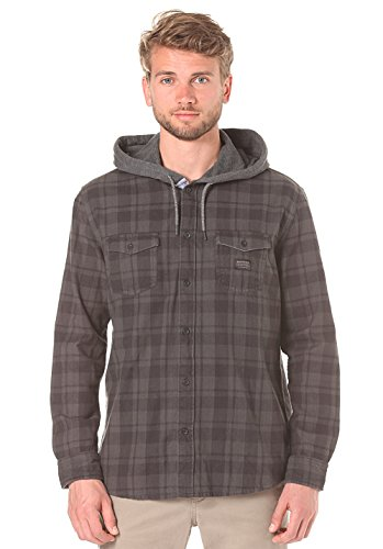 Quiksilver Snap Up Ls M Wvtp Rqj1, Color: Snap Up Tarmac, Size: S