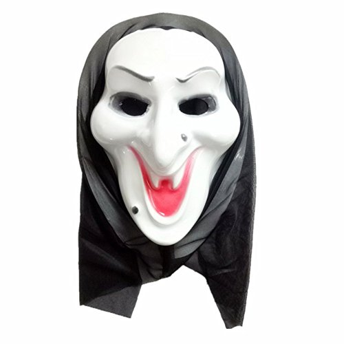 Kostüm Ghost Gesicht - Vikenner Halloween Ghost Maske Schrei Gesichtsmaske Horror Masken für Party Festival Kostüm Cosplay Gesicht Requisiten Erwachsene-C