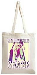 Natural Born Skater Tote Bag