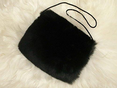 Muff / Handwärmer aus echtem Lammfell / m. kleiner Innentasche / schwarz