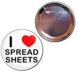 I Love Spreadsheets - 77mm badge Bouton
