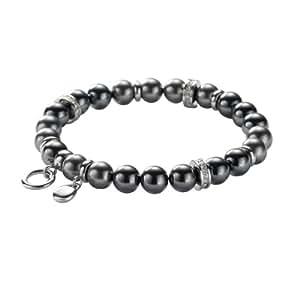 FOSSIL  JF85213040 Charms Armband Stretch Perlen grau Glasperlen Hämatitfarben