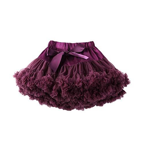 Frashing Damenmode Einfarbig Tanzparty Tanz Ballett Tutu Röcke Bogen Mehrere Farben Mini Party Kleid Regular Fit ()