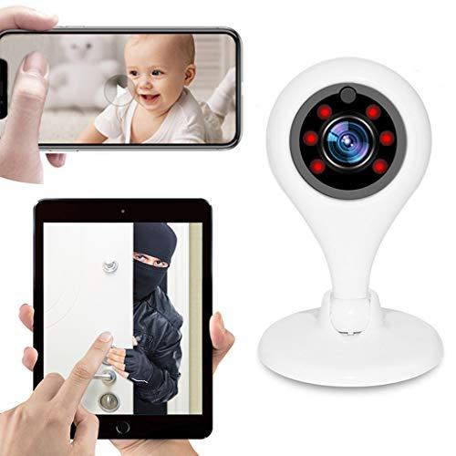 Telecamera Di Sicurezza WiFi 1080P Sistema Di Sorveglianza IP Wireless Sistema Di Allarme Automatico Per Telecomando Visione Notturna Rilevatore Di Movimento Bidirezionale Per Baby Pet Monitor,USPlug